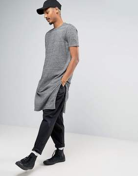 Asos Super Longline Knitted T-shirt with Extra Long Side Splits