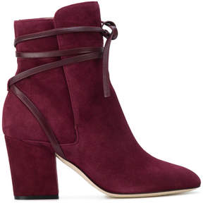 Sergio Rossi laced detail ankle boots