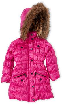 Urban Republic Toddler Girls) Faux Fur Trim Hooded Coat