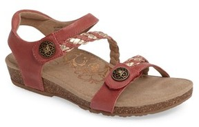 Aetrex Women's 'Jillian' Braided Leather Strap Sandal