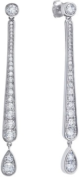 Crislu CZ Accented Bar Drop Earrings