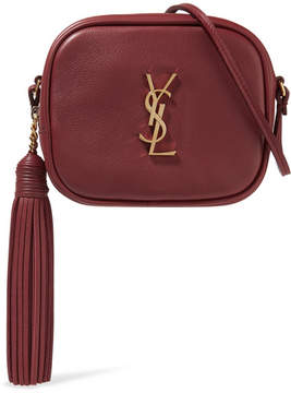 Saint Laurent Monogramme Blogger Leather Shoulder Bag - Claret - CLARET - STYLE