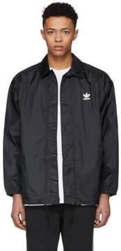 adidas Black Trefoil Coach Jacket