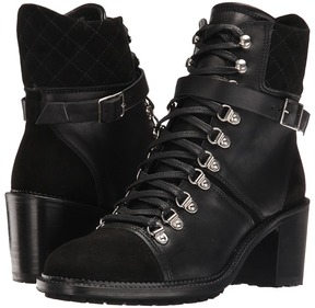 The Kooples Steffy Boots in A Smooth Leather and Calfskin Suede Mix