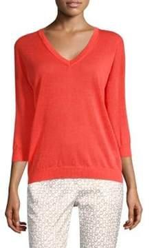 Peserico Ribbed Knit V-Neck Sweater
