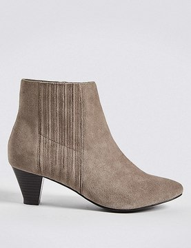 Marks and Spencer Covered Elastic Ankle Boots
