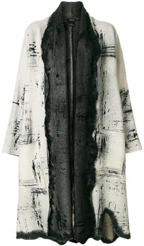 Avant Toi patterned open front coat
