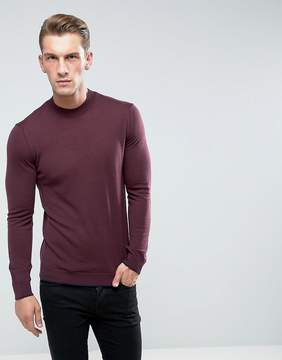 Benetton Sweater With High Neck In 100% Merino
