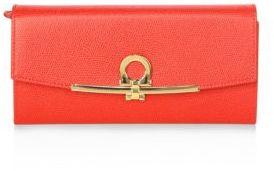Salvatore Ferragamo Gancino Clip Icona Continental Leather Wallet
