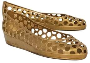 Marc Jacobs Gold Jelly Flats