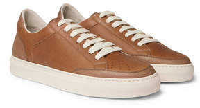 Brunello Cucinelli Full-Grain Leather Sneakers