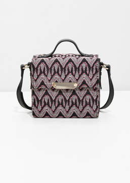 And other stories Structured Jacquard Crossbody Bag