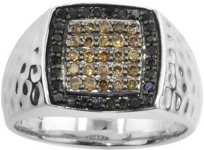 Black Diamond FINE JEWELRY Mens CT. T.W. Champagne & Color-Enhanced Ring