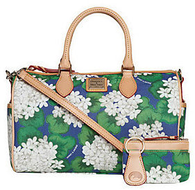 Dooney & Bourke As Is Coated Cotton Floral Satchel - ONE COLOR - STYLE