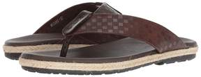 Matteo Massimo Checkered Thong Men's Sandals
