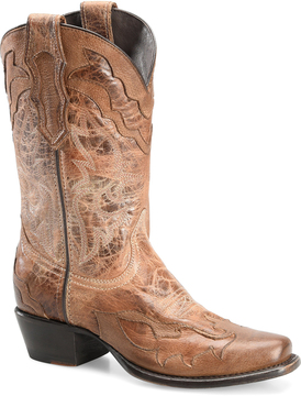 Sonora Taupe Carla Leather Cowboy Boot