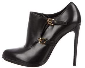 Tom Ford Leather Pointed-Toe Booties