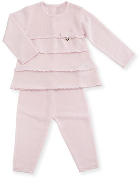 Mayoral Knit Tiered Dress w/ Leggings, Size 1-9 Months