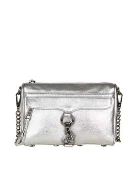 Rebecca Minkoff mini Mac Crossbody In Laminated Leather Anthracite C - ANTHRACITE - STYLE
