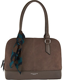 Tignanello As Is Water Resistant Suede Leather RFID Satchel