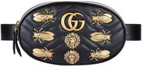 Gucci Embellished Marmont Belt Bag - BLACK - STYLE