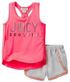 Juicy Couture Racerback Tank & Terry Short Set (Little Girls)