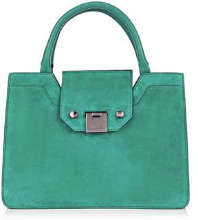 Jimmy Choo REBEL TOTE/S Emerald Suede Tote Bag