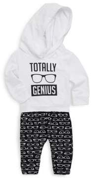 Petit Lem Baby's Two-Piece Sunglasses Hoodie & Sweatpants Set