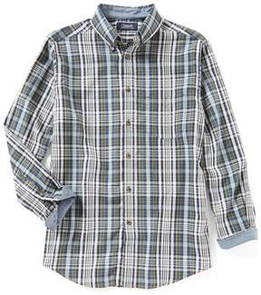 Roundtree & Yorke Casuals Long-Sleeve Large Plaid Sportshirt