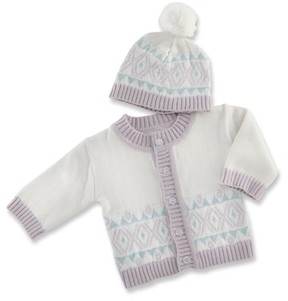 Baby Aspen Infant Girl's Fairy Tale Forest Cardigan & Hat Set