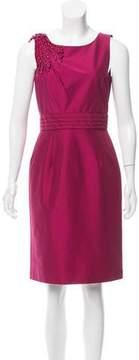 Tahari Arthur S. Levine Embellished Knee-Length Dress