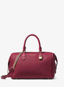 Michael Kors Grayson Leather Satchel - PURPLE - STYLE