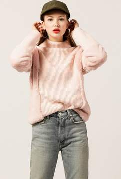 Azalea Pia Fur Turtleneck Sweater