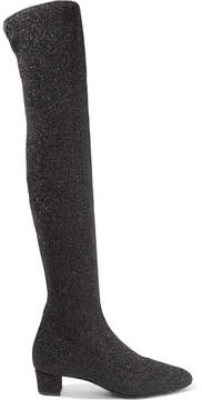 Giuseppe Zanotti Natalie Glittered Stretch-knit Over-the-knee Boots - Black