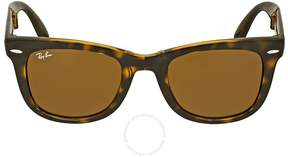 Ray-Ban Folding Wayfarer Light Havana Tortoise Resin Sunglasses RB4105-50-710