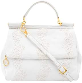 Dolce & Gabbana Sicily leather handbag - WHITE - STYLE