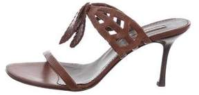 Cesare Paciotti Leather Slide Sandals