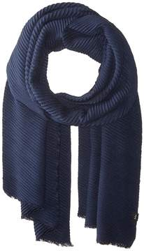 Echo Solid Pleated Muffler Scarves