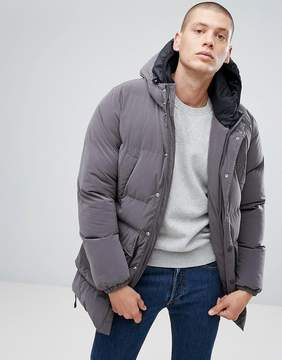 North Sails Stockholm Double Hooded Puffer Coat in Gray