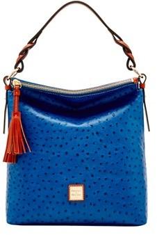 Dooney & Bourke Ostrich Small Sloan Bag. - MARINE - STYLE