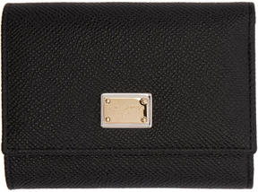 Dolce & Gabbana Black Small Foldover Wallet - BLACK - STYLE