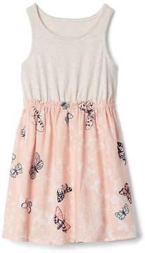 Gap Eyelet Mix Fabric Dress