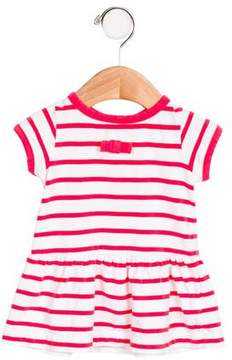 Jacadi Girls' Bow-Accented Striped Dress