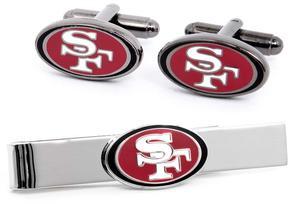 Ice San Francisco 49er's Cufflinks and Tie Bar Gift Set