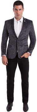 Asstd National Brand Nick Graham Grey Paisley Woven Sport Coat Slim Fit