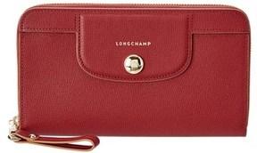 Longchamp Roseau Sakura Leather Wallet. - PINK - STYLE