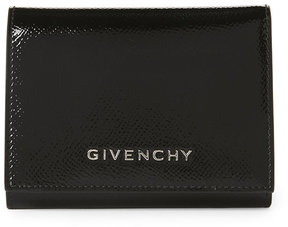 Givenchy Black Patent Leather Small Flap Wallet