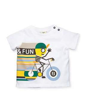 Fendi Short-Sleeve Bicycle Graphic T-Shirt, Size 12-24 Months