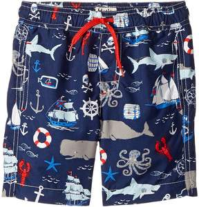 Hatley Vintage Nautical Swim Trunks (Toddler/Little Kids/Big Kids)