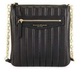 Donna Karan Erin Pinstripe Quilted Leather Crossbody Bag